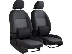 Poduszki samochodowe, Poduszki korygujące alkantara w kolorze czarny,.