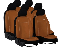 Pokrowce samochodowe do Chevrolet Orlando 7m. Pokrowce miarowe alkantara w kolorze brązowy, pasują do Chevrolet Orlando 7m.
