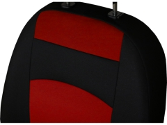 Pokrowce samochodowe, Pokrowce uniwersalne materiałowe w kolorze czerwony,.