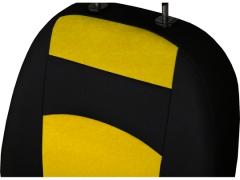 Pokrowce samochodowe, Pokrowce uniwersalne materiałowe w kolorze żółty,.