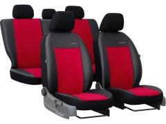 Pokrowce samochodowe do Citroen C5 III. Pokrowce miarowe alkantara, skórzane w kolorze czerwony, pasują do Citroen C5 III.