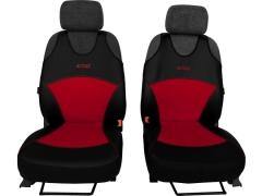 Koszulki samochodowe, Koszulki na siedzenia alkantara, skórzane w kolorze czerwony (wzór B),.