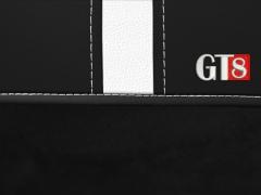 Pokrowce samochodowe, Pokrowce uniwersalne alkantara, skórzane w kolorze czarno - biały,.