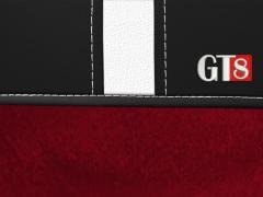 Pokrowce samochodowe, Pokrowce uniwersalne alkantara, skórzane w kolorze czerwony,.