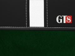 Pokrowce samochodowe, Pokrowce uniwersalne alkantara, skórzane w kolorze zielony,.