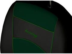 Pokrowce samochodowe, Pokrowce uniwersalne skórzane w kolorze zielony,.