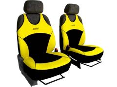 Koszulki samochodowe, Koszulki na siedzenia welurowe, materiałowe w kolorze żółty (wzór A),.