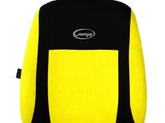 Pokrowce samochodowe, Pokrowce uniwersalne welurowe, materiałowe w kolorze żółty,.